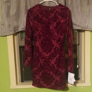 Burgundy Vellore Cocktail Dress